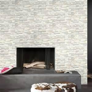 papier peint intiss 233 brique marbre blanc leroy merlin
