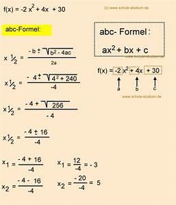 Delta Berechnen : nullstellen berechnen abc formel mitternachtsformel pq formel aufgaben mit musterl sungen ~ Themetempest.com Abrechnung