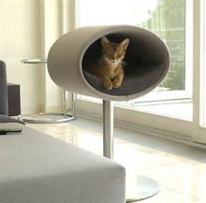 modern cat furniture modern cat beds rondo by meyer digsdigs