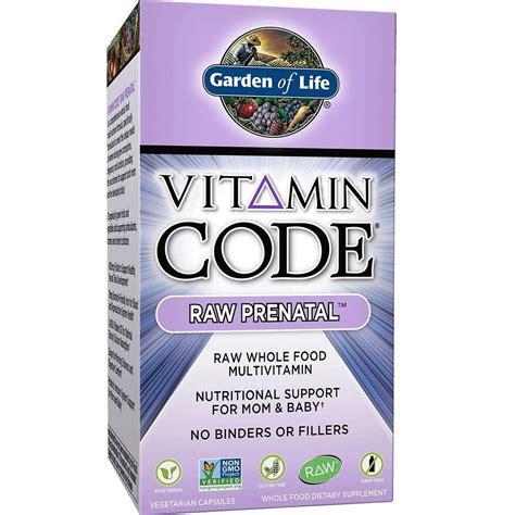 garden of vitamin code prenatal garden of vitamin code prenatal 180 vcapsules