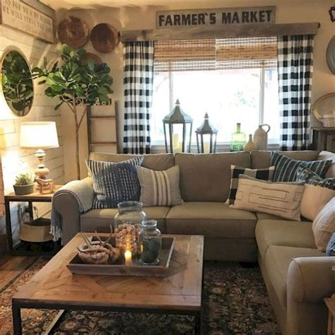 Primitive Decorating Ideas For Living Room by 74 Amazing Rustic Farmhouse Style Living Room Design Ideas