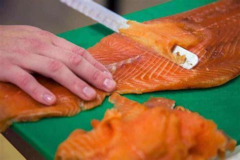 fish smoked water salmon cold eat slicing wild