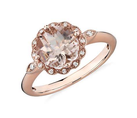 Morganite And Diamond Milgrain Halo Ring In 14k Rose Gold. Large Diamond Rings. Eva Fehren Rings. Ruby Eye Rings. Blue Oval Engagement Rings. Utpa Rings. Style Engagement Ring Rings. 9 Birthstone Rings. Cersei Rings