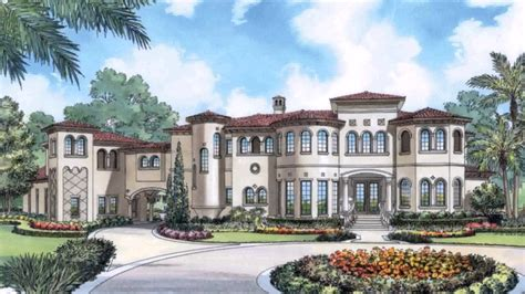 Mediterranean House Plans With Courtyard Pool YouTube