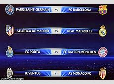 Champions League Draw LIVE Real Madrid, Barcelona, Bayern