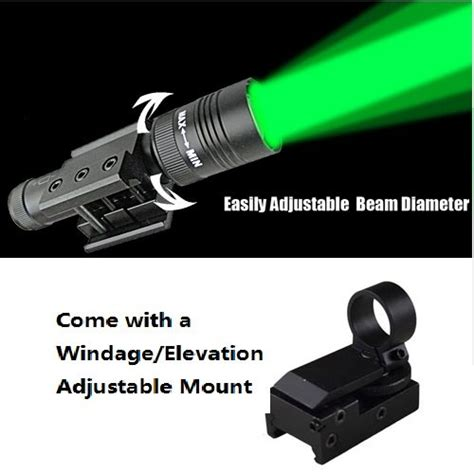 laser light for rifle compact rifle or pistol tactical green laser designator