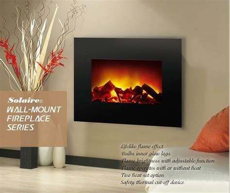 contemporary wall mount electrical fireplace