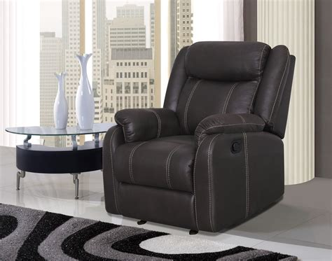 U7303c Charcoal Printed Fabric Glider Reclining Chair By