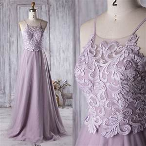 2016 light purple bridesmaid dress long spaghetti straps for Purple long dress for wedding