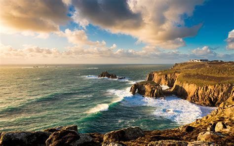 lands  cornwall england widescreen wallpaper wide