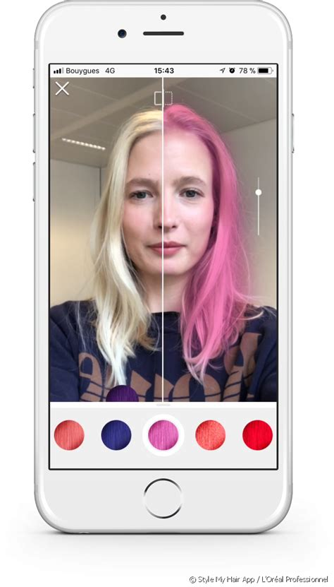 hair color try on style my hair the 3d app that lets you try on hair color
