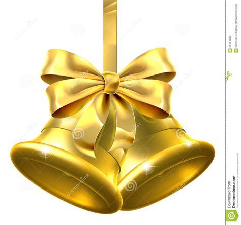 christmas bells bow ribbon gold christmas bells stock vector image of ribbons shiny 61344809
