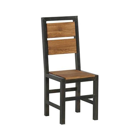 chaise chene chaise de repas chêne et métal ferscott