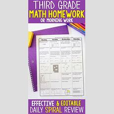 3rd Grade Math Spiral Review  3rd Grade Math Homework Or 3rd Grade Morning Work  Morning Work