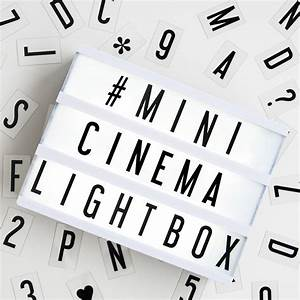 my cinema lightbox mini cinema lightbox my cinema With my cinema lightbox mini letters