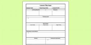 editable individual lesson plan template lesson planning With early years lesson plan template