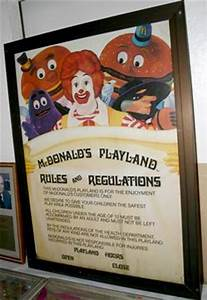 Sign; McDonald's, Playland Rules, Plastic Lithograph, 48 inch.