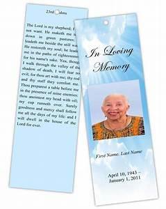 9 best images of free memorial bookmark templates free With funeral bookmarks template free
