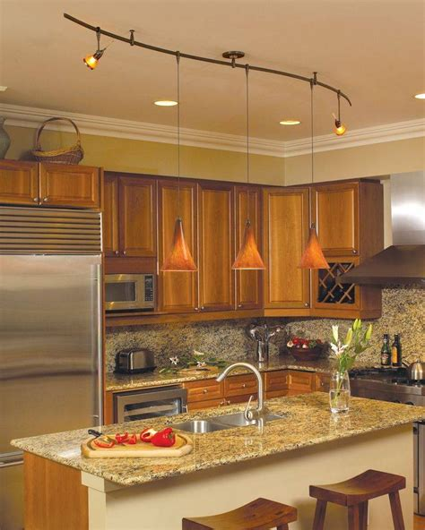 best lighting for a kitchen 15 inspirations of orange pendant lights for kitchen 7739