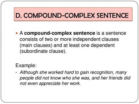 compound sentence exles alisen berde