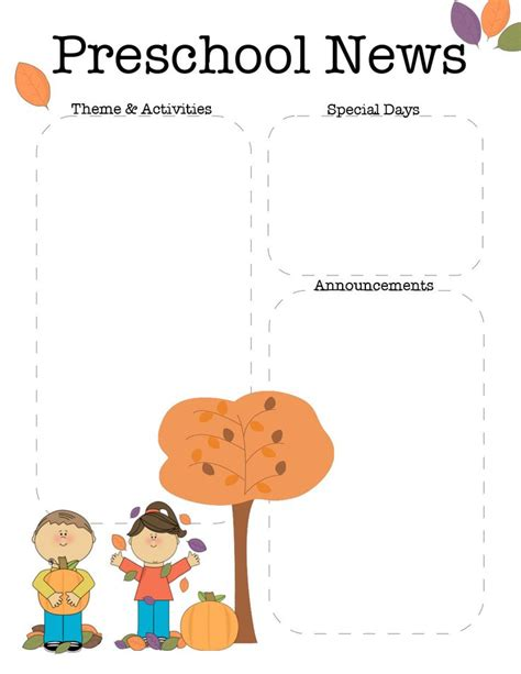 october newsletter ideas october preschool newsletter template teaching ideas