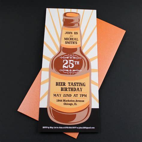 beer tasting birthday invitation template  print
