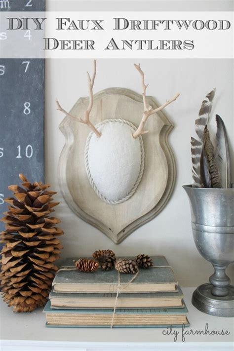 cool diy faux driftwood deer antlers jennifer rizzo