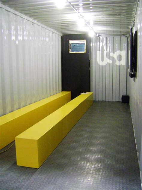 shipping containers  mobile mini theaters wired