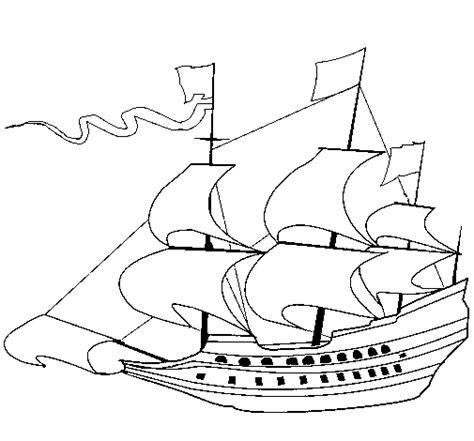 coloriage de voilier du xviie siecle pour colorier