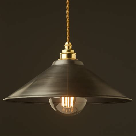 antiqued steel light shade mm pendant