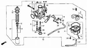 Honda Trx 300 Carburetor Parts Diagram  U2022 Downloaddescargar Com