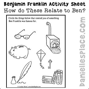 benjamin franklin printable activity sheet  www