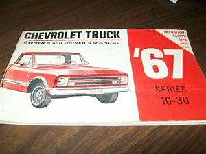 Find 1967 Chevy Truck Owner U0026 39 S And Driver U0026 39 S Manual