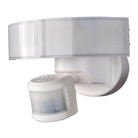 defiant led security light defiant 180 degree white led motion outdoor security light