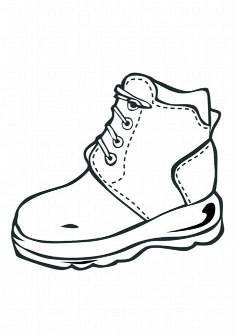shoe coloring pages    print
