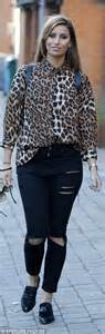 blouse nola sam faiers teams leopard print shirt with black