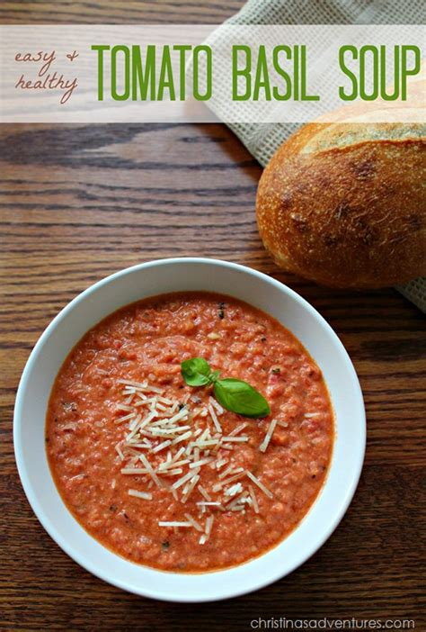healthy tomato soup recipe easy healthy tomato basil soup recipe christinas adventures