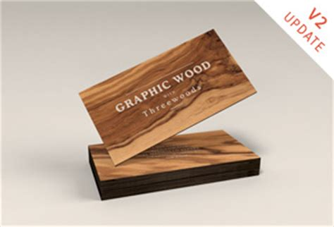wooden business cards mockup graphicburger