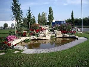 modele de rocaille de jardin best acheter rocaille jardin With beautiful exemple d amenagement de jardin 8 bassin leos paysages