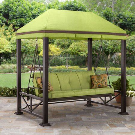 walmart canopy swing better homes and gardens sullivan pointe 3 person outdoor