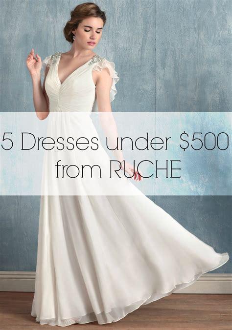 wedding dresses   dollars  ruche aisle