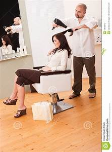 Professional Hairdresser With Hair Dryer Stock Photography ...