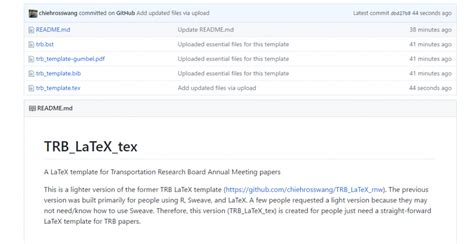 trb 2018 template readme md template templates collections
