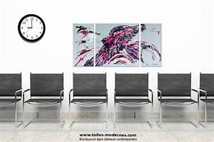 Tableau Triptyque Moderne : triptyque moderne gris format portrait unique triptyque abstrait figuratif gris vertical ~ Teatrodelosmanantiales.com Idées de Décoration