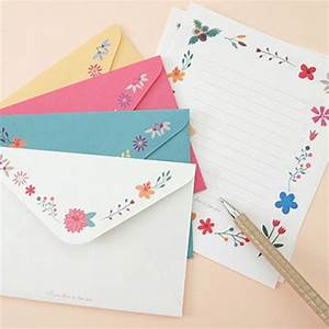 beautiful flowerbutterfly letter set 8sh writing With letter stationery and envelopes