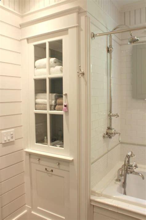 built in linen cabinet tile fixtures rub a dub dub