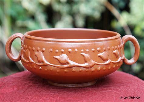 panier 騅ier cuisine ceramique gallo romaine tasse a parois fines quot feuilles d 39 eau quot via temporis