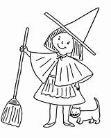 Witch Coloring Pages Printable Witches Halloween Clipart Sheets Cartoon Preschool Wendy Popular Hat Kindergarten Coloringhome Library Coloringlab sketch template