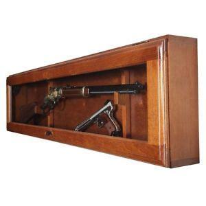 horizontal wall mounted cabinet rifle display case gun cabinet horizontal wall mount glass
