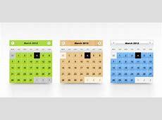 Calendario psd template Scaricare PSD gratis